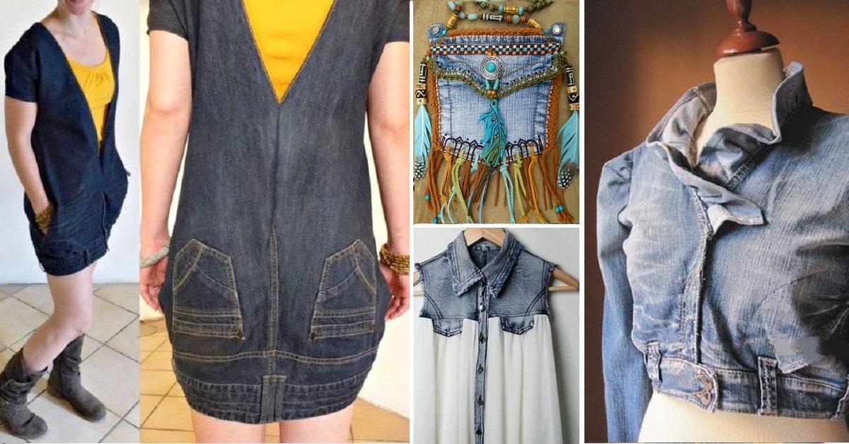 Célèbre 28 Façons créatives de récupérer des vieux jeans, pour leur donner  XY78