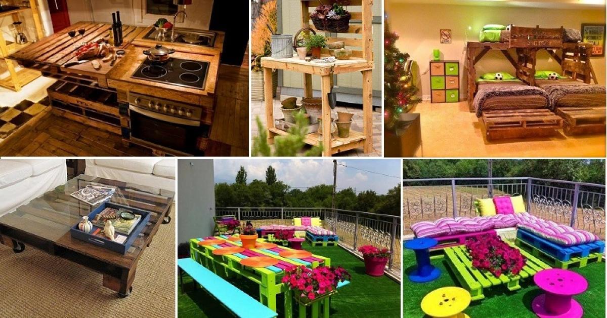 Fabuleux 70 projets à réaliser à partir de palettes de bois! - Décorations  FW56