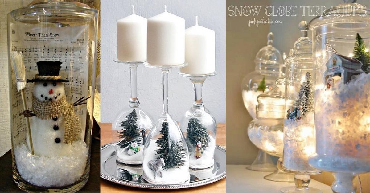 Exceptionnel 20 décorations de Noël à faire avec des accessoires de verre! C  CW84