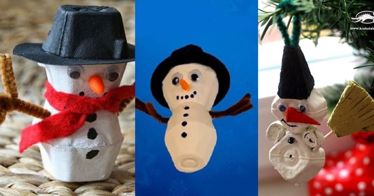 Turbo De bonhommes de neige en carton d'œuf! Tutoriel vidéo  BO54
