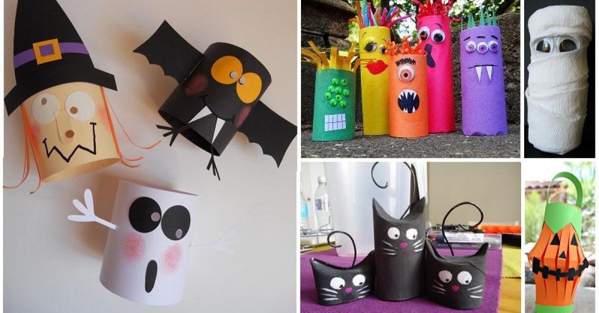 Beliebt Plus de 30 bricolages d'Halloween à faire avec des rouleaux de  GH79